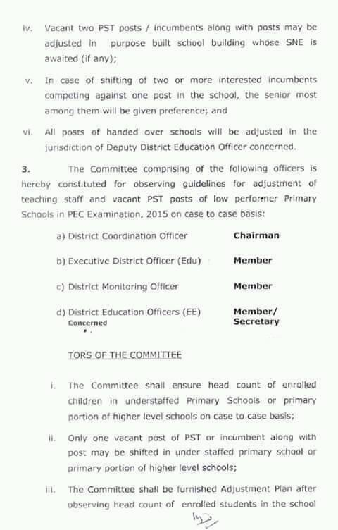 ADJUSTMENT OF PSTs OF HANDED OVER PRIMARY SCHOOLS TO PUNJAB EDUCATION FOUNDATION-2