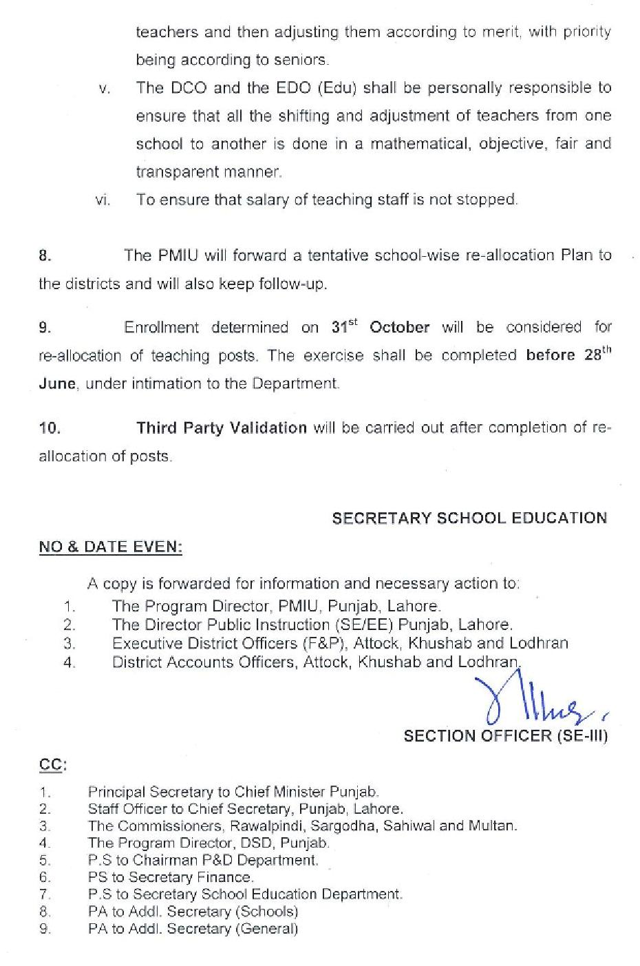 RE ALLOCATION OF TEACHING POSTS AND TEACHERS TIME TABLE PERIODS-3