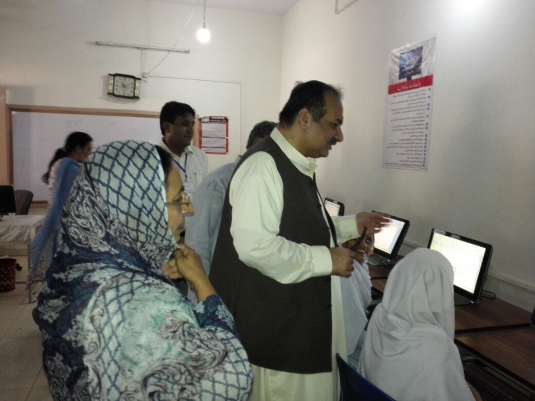 education minister visit different schools in khanpur